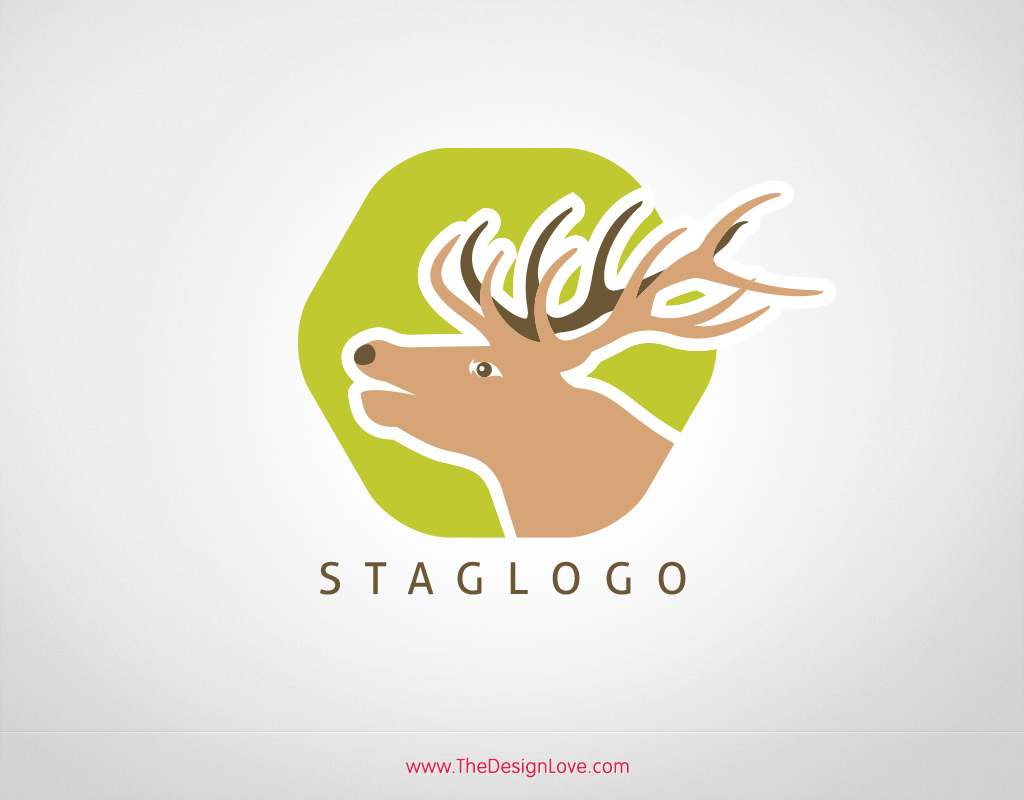 Free-vector-stag-logo-template