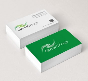 011-Green-Wings-Logo-Template-Business-Card-Template