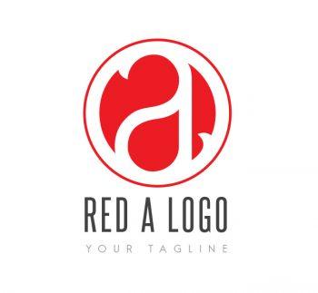 Red A Logo & Bcard Template