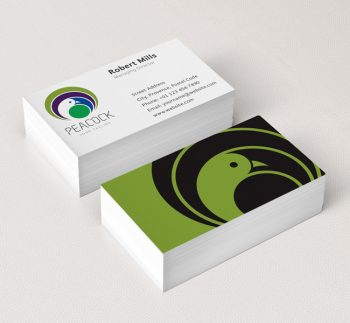 022-Peacock-Logo-&-Business-Card-Template