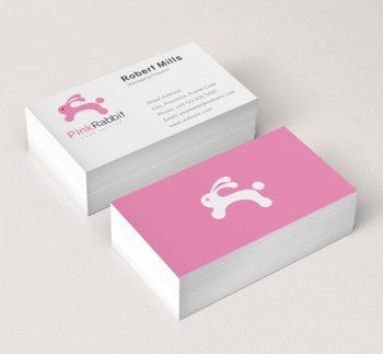 029-Pink-Rabbit-Logo-&-Business-Card-Template