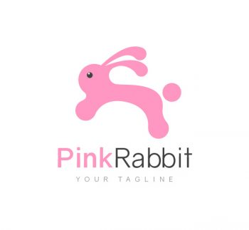 Pink Rabbit Logo & Business Card Template