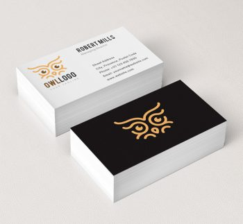 032-Owl-Eyes-Logo-&-Business-Card-Template