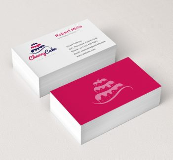 034-Cherry-Cake-Logo-&-Business-Card-Template
