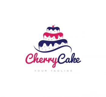 Cherry Cake Logo & Business Card Template
