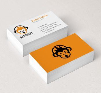 036-DJ-Monkey-Logo-&-Business-Card-Template