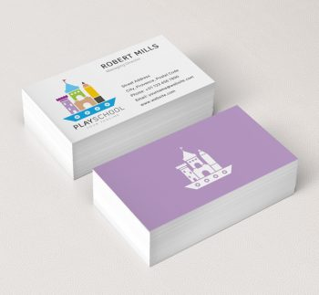 045--Play-School-Logo-&-Business-Card-Template