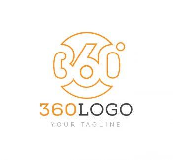 360 Degree Logo & Business Card Template