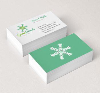 061-Green-aFriends-Logo-&-Business-Card-Template