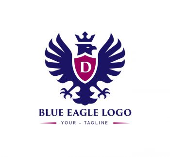 Blue Eagle Logo & Business Card Template