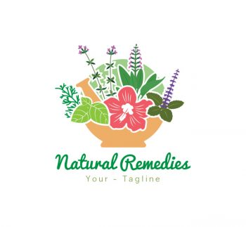 Natural Remedies Logo & Business Card Template