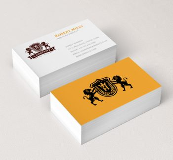 Lion-Crest-with-Crown-Business-Card-Mockup