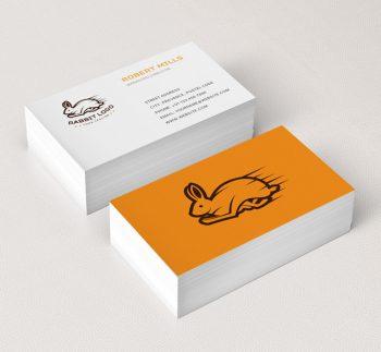 Running-Rabbit-Business-Card-Mockup