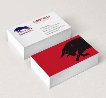 Charging-Bull-Business-Card-Mockup