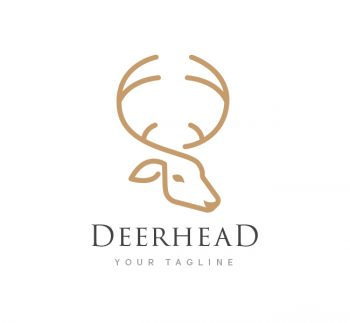 Deer Head Logo & Business Card Template