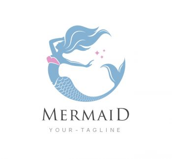 Mermaid Logo & Business Card Template
