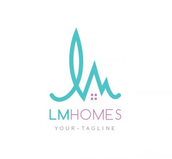 LM Homes Logo & Business Card Template