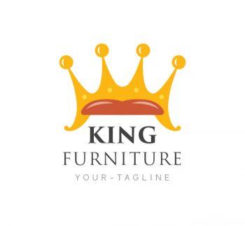 King Furniture Logo & Business Card Template