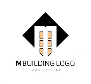 M Building Logo & Business Card Template