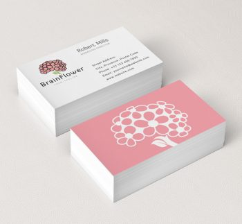 Brain-Flower-Business-Card-Mockup