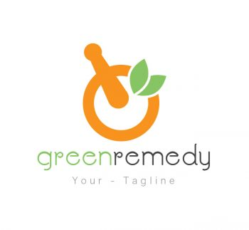 Green Remedy Logo & Business Card Template