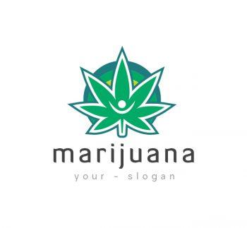 Marijuana Leaf Logo & Business Card Template