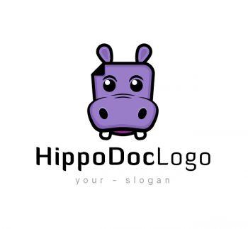 Hippo Doc Logo & Business Card Template