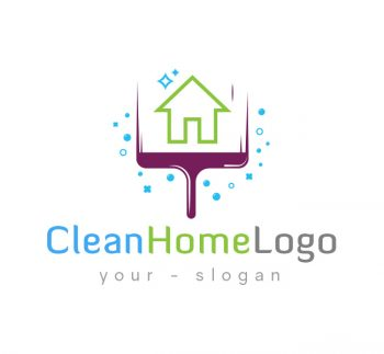 Home Cleaning Logo & Business Card Template