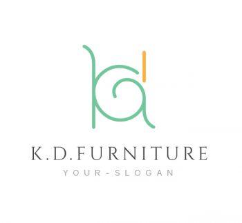 K. D. Luxury Furniture Logo & Business Card Template