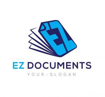 EZ Documents Logo & Business Card Template