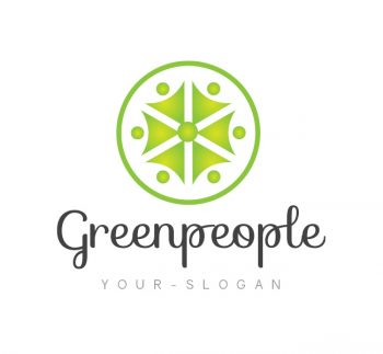 Green People Logo & Business Card Template