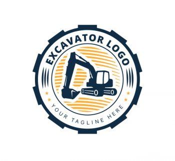 Excavator Logo & Business Card Template