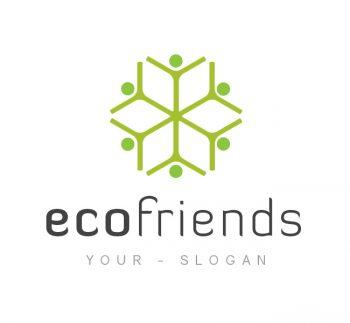 Eco Friends Logo & Business Card Template