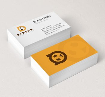 B-with-Bear-Face-Business-Card-Mockup