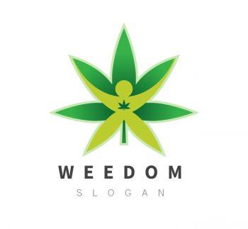 Freedom Cannabis Logo & Business Card Template