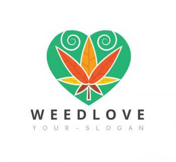Weed Love Logo & Business Card Template