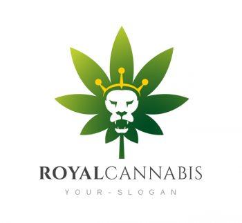Royal Cannabis Logo & Business Card Template