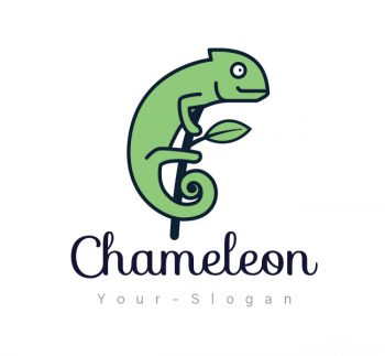 Simple Chameleon Logo & Business Card Template