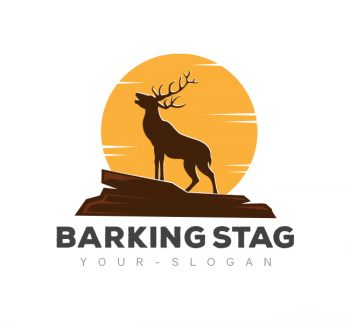 Barking Stag Logo & Business Card Template