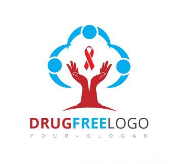 Drug Free Logo & Business Card Template