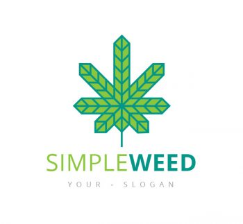 Minimal Cannabis Logo & Business Card Template