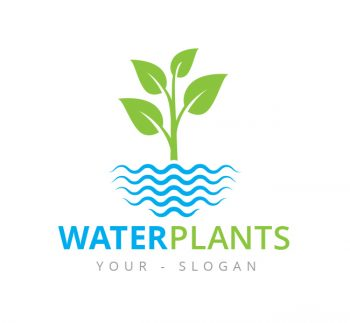 Water Plants Logo & Business Card Template
