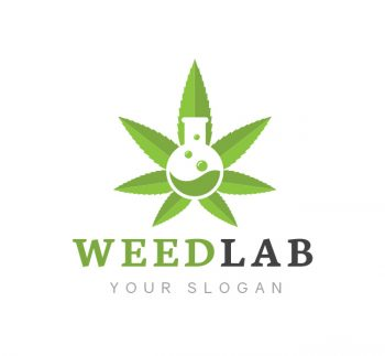Weed Lab Logo & Business Card Template