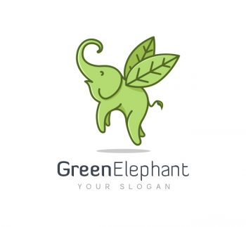 Flying Elephant Logo & Business Card Template