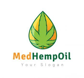 Hemp Oil Logo & Business Card Template