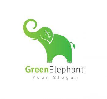 Green Elephant Logo & Business Card Template