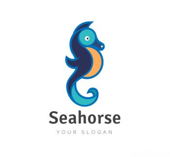 Seahorse Logo & Business Card Template