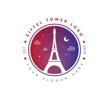 Eiffel Tower Logo & Business Card Template