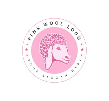 Pink Wool Logo & Business Card Template