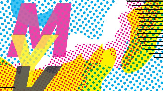 Abstract Illustration Containing Letters CMYK